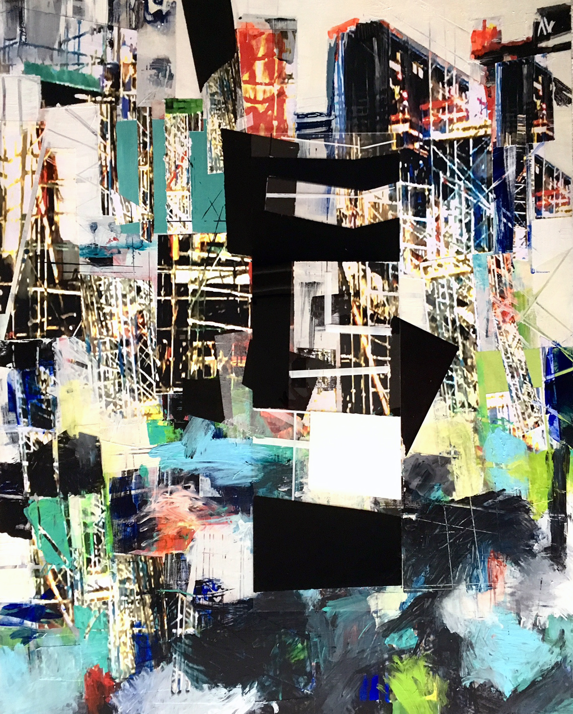 """""""PAINTING BY ERIKA NOLTE AMANN: BY CONSTRUCTION"""""""