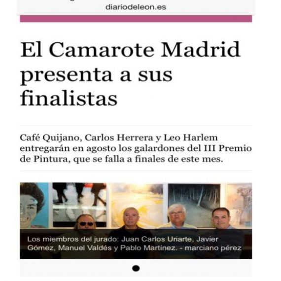"""paintings exhibition in El Camarote, Madrid"""